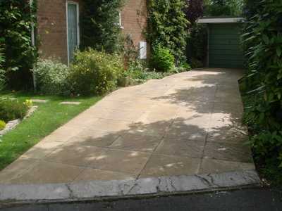 Driveway before widening