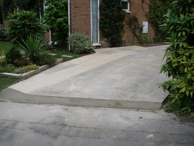 Driveway after widening